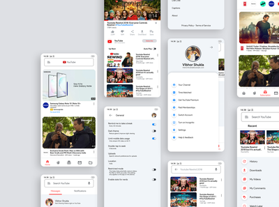 YouTube Android App Redesign by Vibhor Shukla