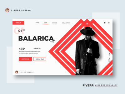 Fashion Landing Page Concept Design