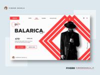 Fashion Landing Page Concept Design