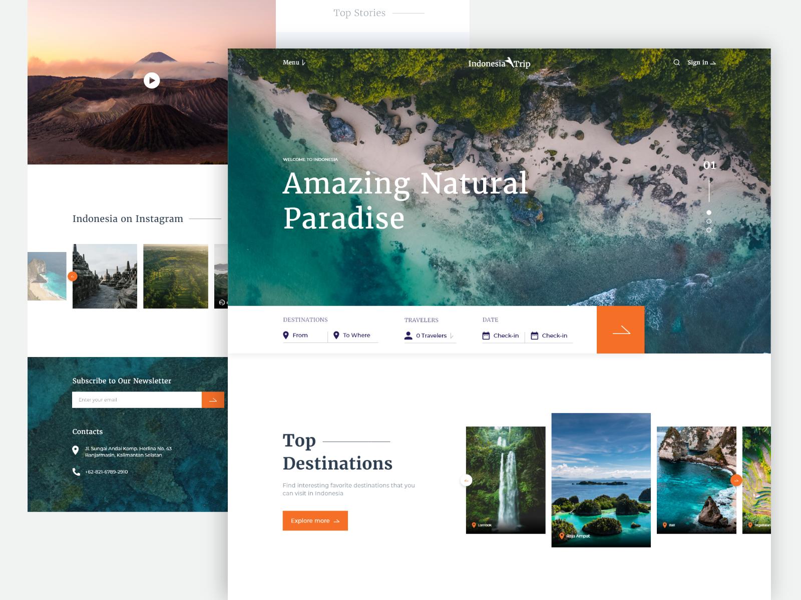 Indonesia Trip & Travel Website Design by Ardi Yodam on Dribbble