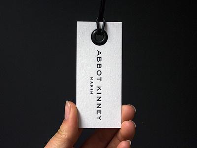 Letterpress Hang Tags luxury white black minimal printed grommet letterpress store clothing tag retail hang tag
