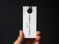 Letterpress Hang Tags