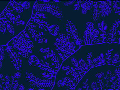 Hand-Drawn Floral Surface Pattern