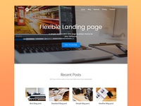 Flexible - responsive landing page