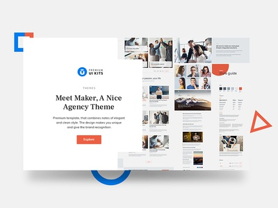 Maker Agency Theme wordpress ui kits multipurpose business web design clean html theme agency corporate article cards landing page maker