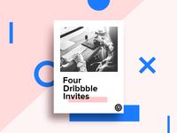 4 Dribbble Invitations