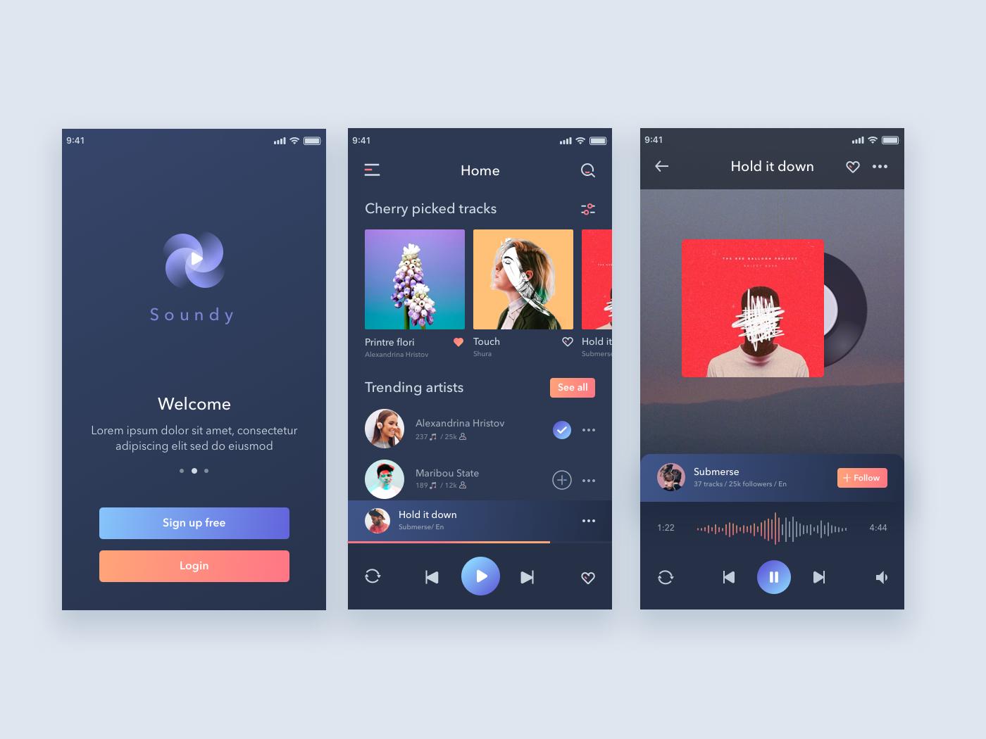 Mobile music app