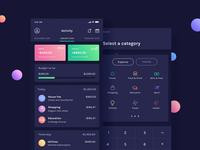 BudgetPlanner - Dashboard & Add Expense Screens
