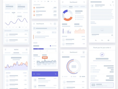 Flowcharts Business ux app flat branding web ios minimal finance ui user graphs charts wallet design wireframe flowcharts clean