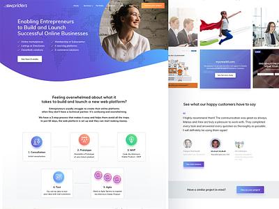WPriders Home Page vecor gradient logo website homepage clean agency wordpress ux ui flat illustration icons branding app design