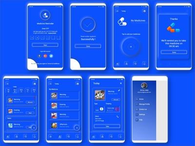 Neumorphism UI Trend 2020 ( Adobe XD App Design )