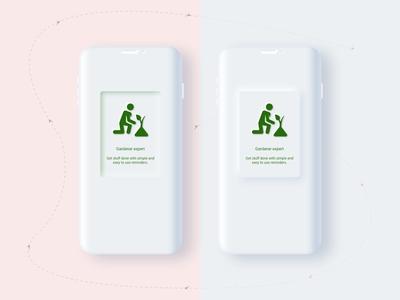 Neumorphism Mobile UI Design