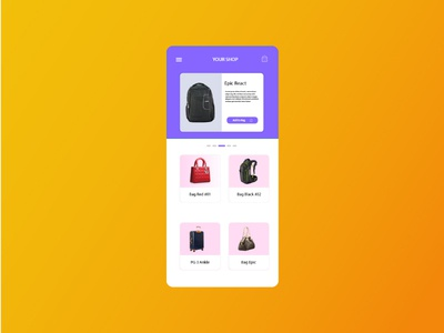 SHOP UI DESIGN