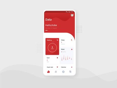 Sports data animation app ui
