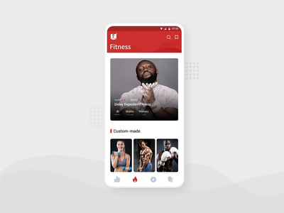 Personal Center page animation ui