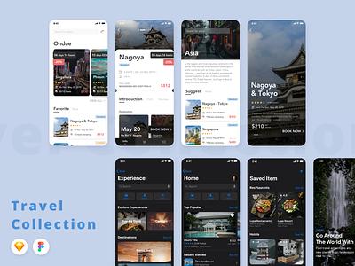 Travel Collection UI Kits capi creative ui kit travel mobile app design mobile design mobile app uidesign ui design