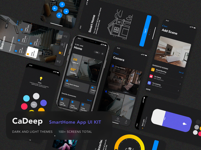 Smarthome Mobile App smart iot smarthome creative ui kit mobile app design mobile app