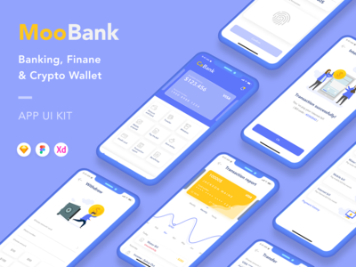 Banking, Finance and Crypto Wallet App UI Kit