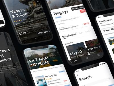 Travel Booking App UI Kit ui uiux app design creative travel app mobile app