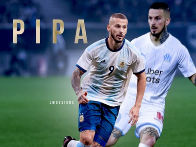 Darío 'Pipa' Benedetto - Marseille mbappe cr7 messi gfx ligue 1 pipa soccer edit poster wallpaper footballer football football edit football design football club illustration photoshop design