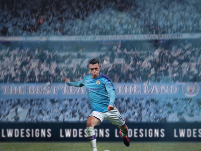 Phil Foden - Manchester City sports poster smsports graphic design gfx champions league bpl premier league manchester city man city phil foden poster wallpaper footballer football club football edit football illustration football design photoshop design