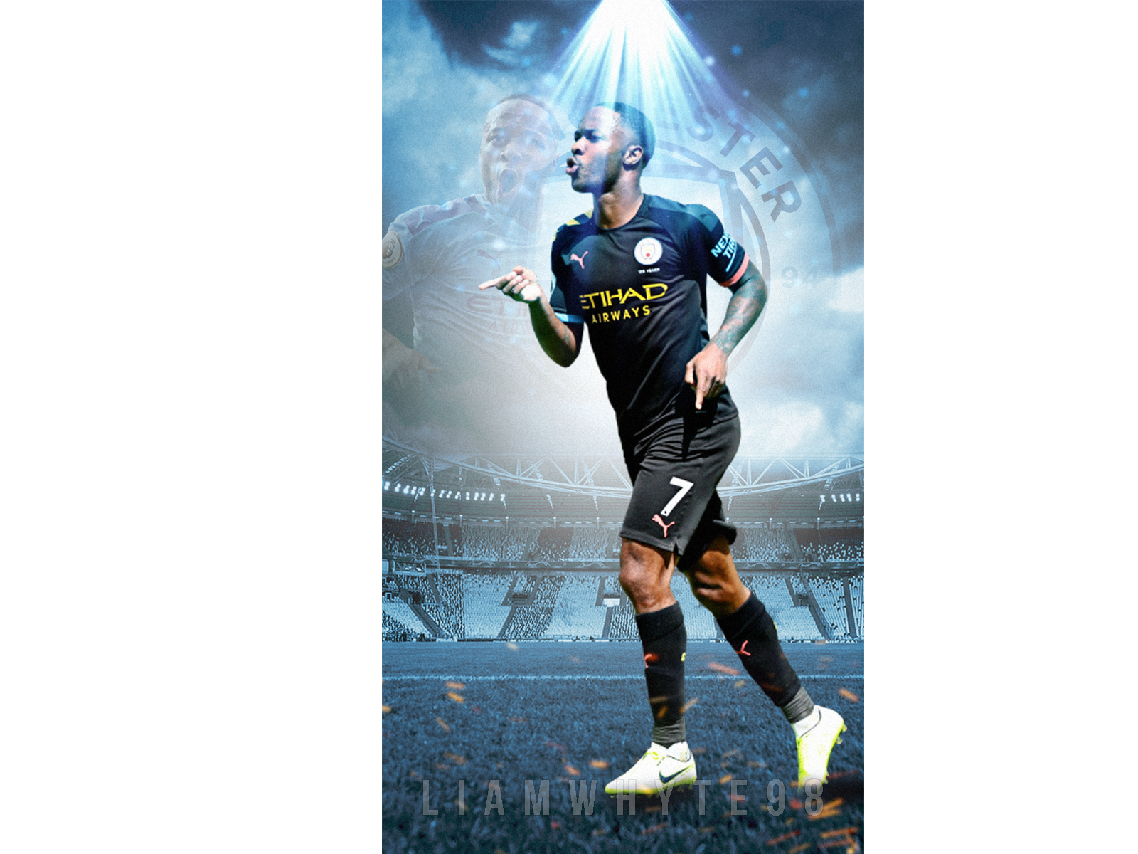 Raheem Sterling Manchester Citys Fire Power By Liam Whyte
