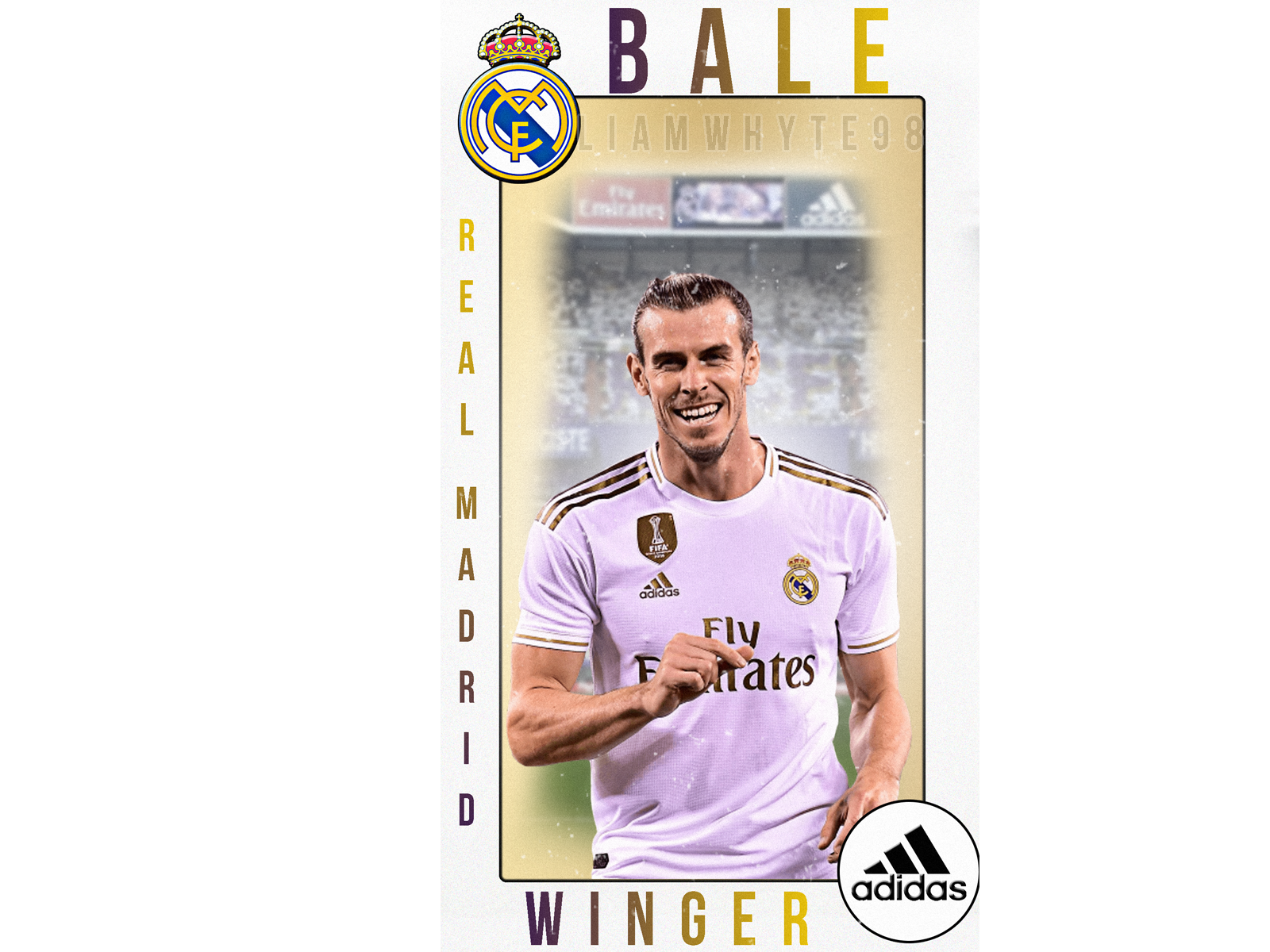 Gareth Bale Real Madrid Player Card Profile Trading Card By Liam Whyte On Dribbble