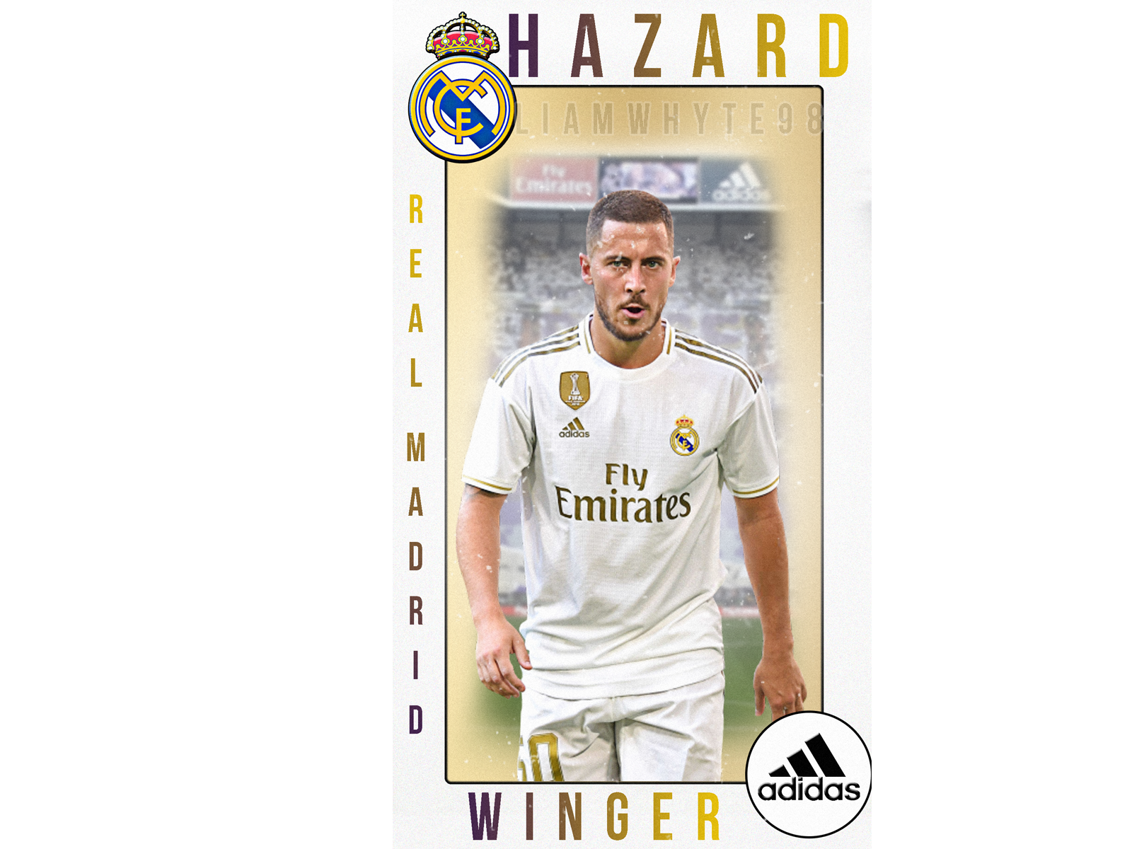 Eden Hazard Real Madrid Player Card Profile Trading Card By Liam Whyte On Dribbble