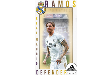 Sergio Ramos - Real Madrid Player Card Profile/Trading Card