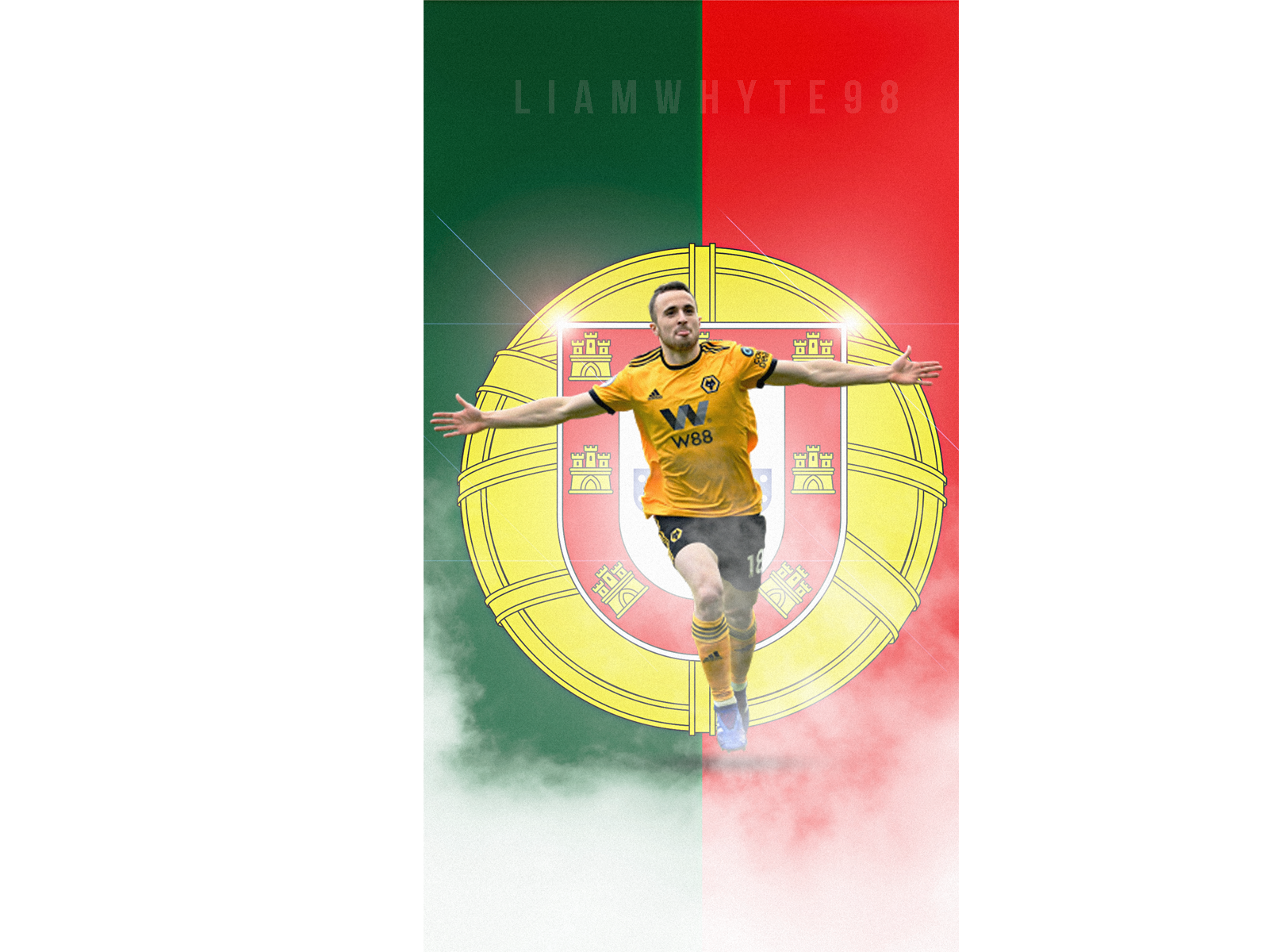 Diogo Jota Wolves 10 Minute Design By Liam Whyte On Dribbble