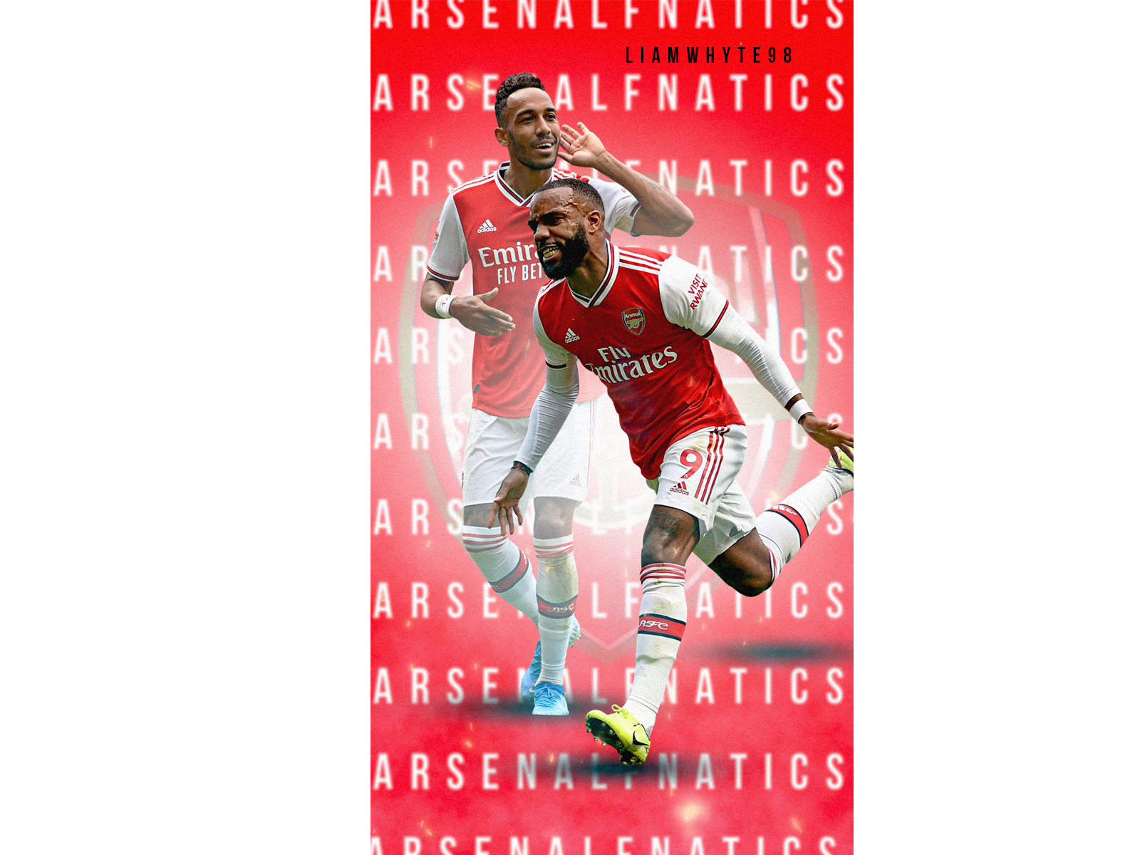 Arsenal Fc Wallpaper Lacazette Aubameyang By Liam Whyte On Dribbble