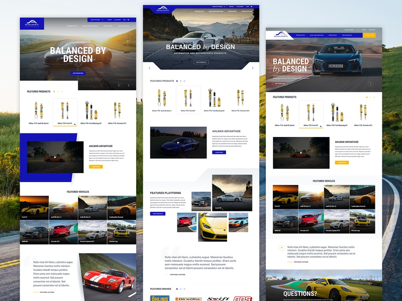 Ahlman Performance Website Redesign ux craftcms racing web design ui uiux branding responsive responsive website