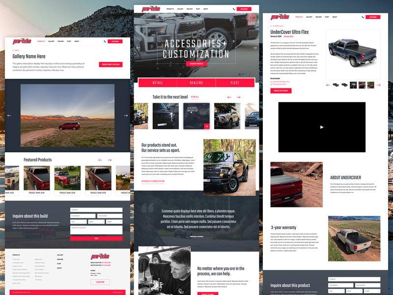 Pro-Trim Website Design craftcms ux design uiux ui website branding web design responsive responsive website