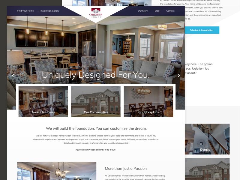 Oberer Homes Responsive Web Design Expressionengine Home Builder Oberer
