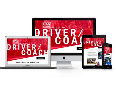 Dan Clarke Racing Website Redesign