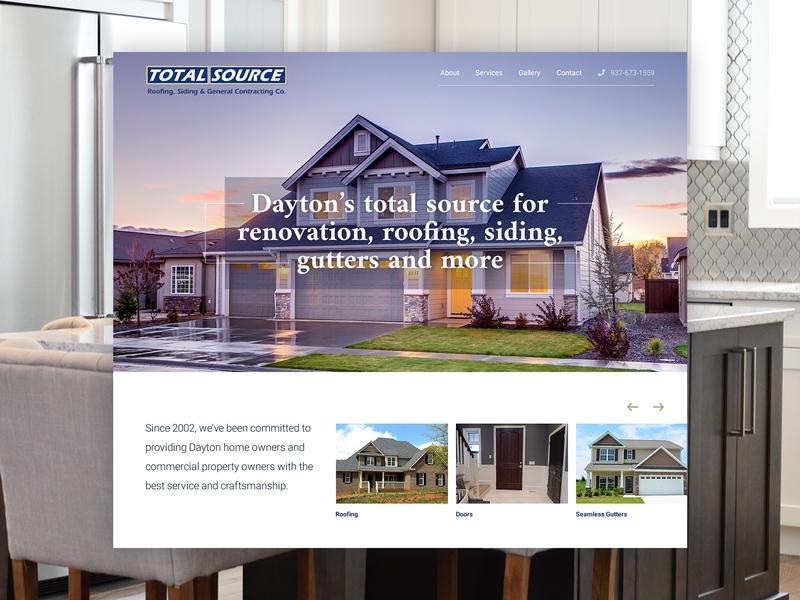 Dayton Total Source Website Concept Design
