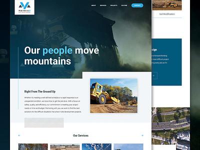 Matrix5 Website Design excavation construction craftcms ui uiux web design responsive branding website responsive website