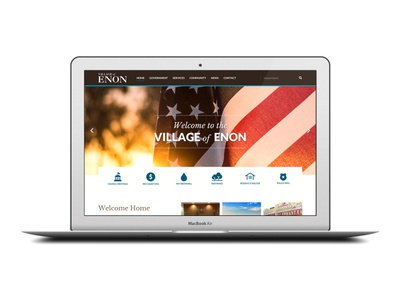 Village of Enon Government Website Redesign