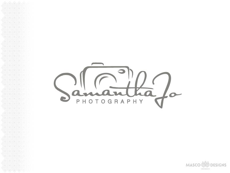 Samantha Jo Photography Logo photography branding logo
