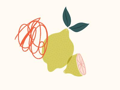 Pink Lemonade sketch lemonade lemon illustration