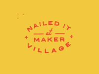 Maker Village Stamp