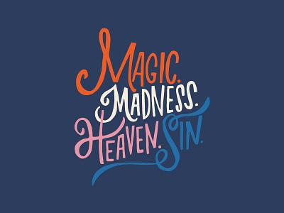 Magic Madness illustration lyrics taylor swift color letters typography