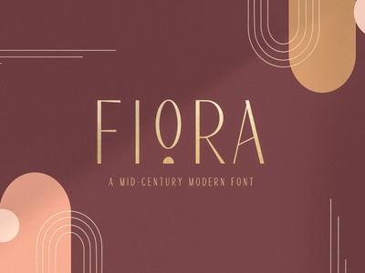 Fiora Font Modern Display Extras