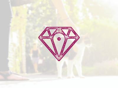 Hidden Gem treasure local vector drop pin photography icon gem