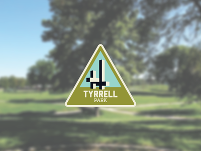 Tyrrell Park parks sculpture illustration badge