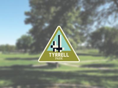 Tyrrell Park parks sculpture illustration badge