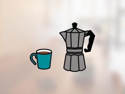 Moka Pot percolator infographic coffee icon moka pot