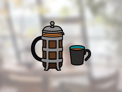 French Press french french press cafeteria infographic coffee icon