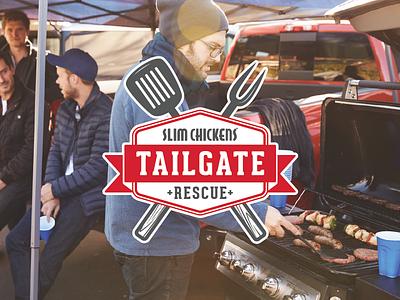 Tailgate Rescue grilling spatula huskers partnership logo badge rescue tailgate