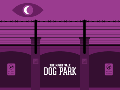 The Dog Park spooky illustration dog park night vale